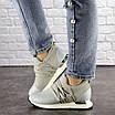 Женские стильные серебристые кроссовки 1036, фото 7