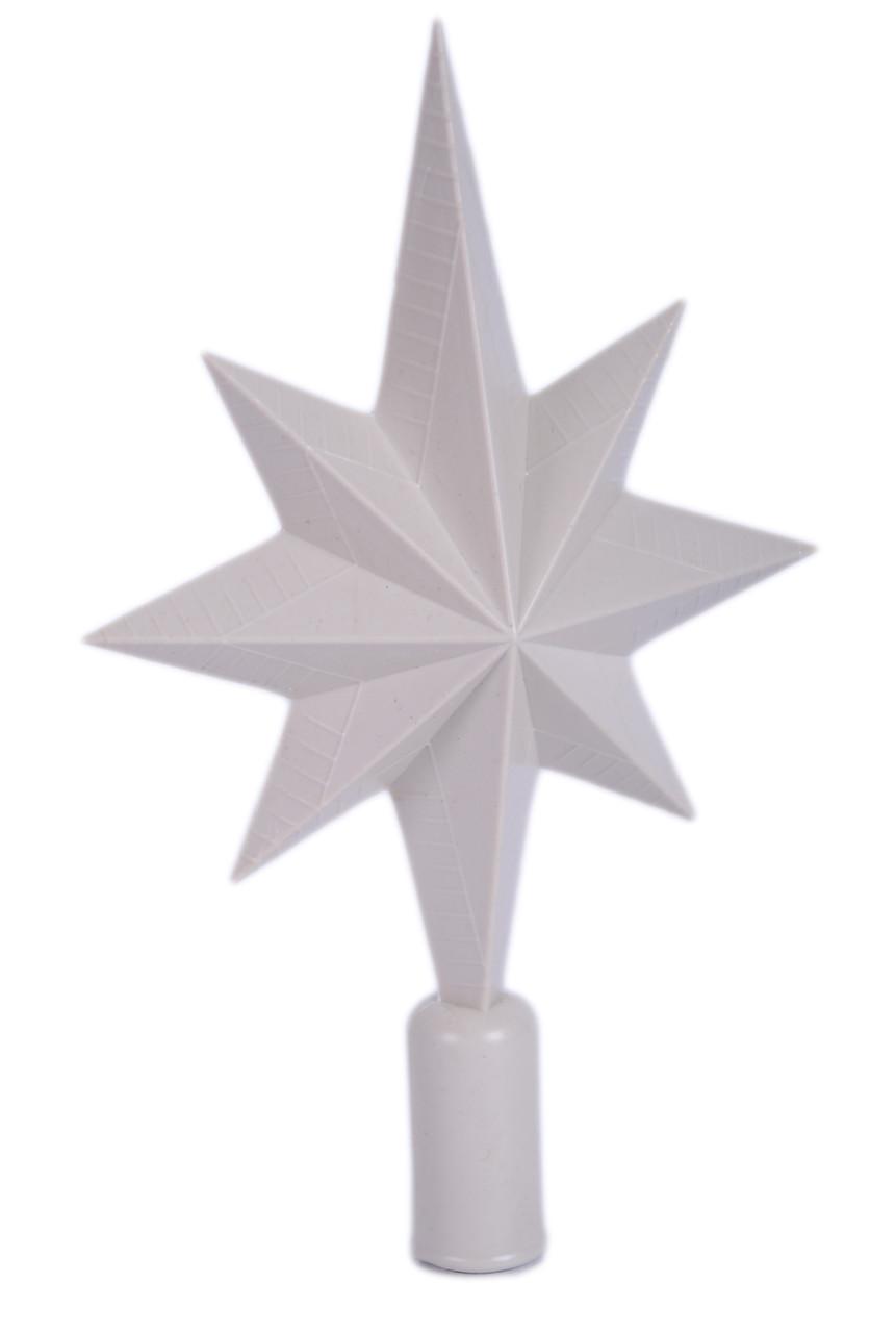 """Пластиковая верхушка на елку """"Звезда""""   заготовка для декора   под покраску   для декупажа 21 см"""