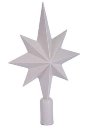 "Пластиковая верхушка на елку ""Звезда""   заготовка для декора   под покраску   для декупажа 21 см, фото 2"