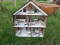 Трьохповерховий будинок для ляльки LOL - трехэтажный домик для куклы ЛОЛ с мебелью, деревьяный дом