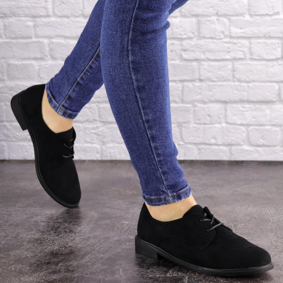 Женские туфли Fluffy черные 1618