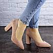 Женские туфли на каблуке розовые Gouda 1941, фото 5