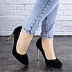 Женские туфли на каблуке черные Addi 1919, фото 3