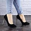Женские туфли на каблуке черные Addi 1919, фото 6