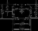DURASTYLE умывальник 56*45,5см, встраиваемый, с переливом, с 1м отв. под смеситель, фото 2