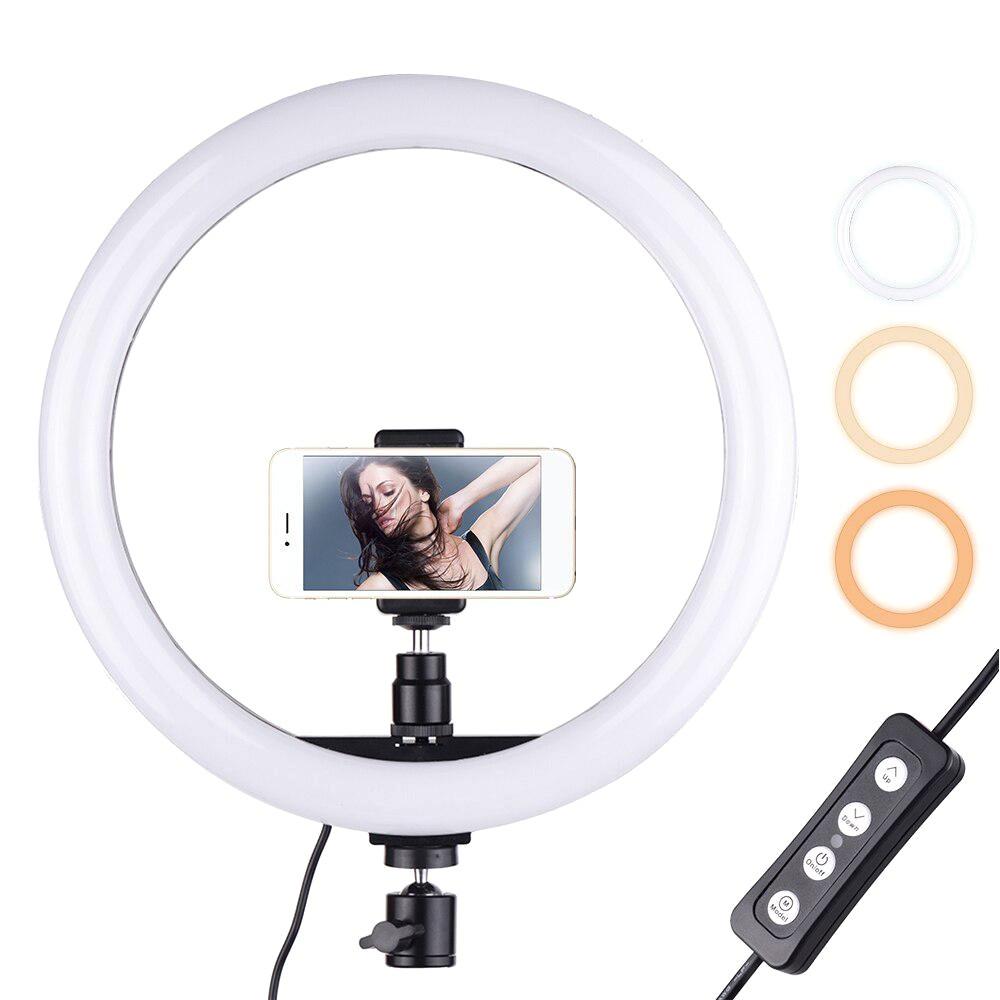 Кольцевая лампа  для телефона 26 см Ring Fill Light селфи кольцо для блогеров визажис, кольцо