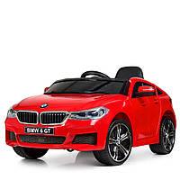 Машина JJ2164EBLR-3  р/у2,4G, 2аккум6V4AH, кож.сиденье, колесаEVA, USB, MP3, красный
