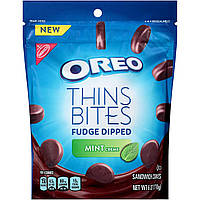 Oreo thins bites fudge dipped mint 173g, фото 1