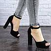 Женские черные босоножки на каблуке Danny 1752, фото 5