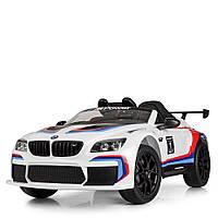 Машина M 5405EBLR-1  р/у2,4G, 2мотора45W, 1аккум12V7AH, музыка, свет, USB,колEVA,кож.сид,белый