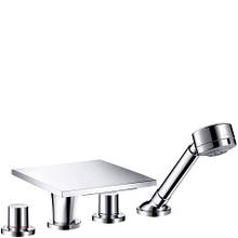 Axor Massaud Смеситель для ванны, на 4 отверстия, двухвентильный