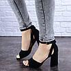 Женские черные босоножки на каблуке Kingsly 1718, фото 2