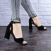 Женские черные босоножки на каблуке Kingsly 1718, фото 5