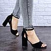 Женские черные босоножки на каблуке Kingsly 1718, фото 6