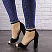 Женские черные босоножки на каблуке Riley 1541, фото 5