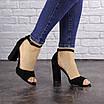 Женские черные босоножки на каблуке Riley 1541, фото 6