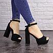 Женские черные босоножки на каблуке Rooty 1625, фото 5