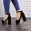 Женские черные босоножки на каблуке Rooty 1625, фото 6