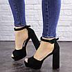 Женские черные босоножки на каблуке Rooty 1625, фото 7