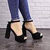 Женские черные босоножки на каблуке Rooty 1625, фото 8
