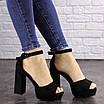 Женские черные босоножки на каблуке Rooty 1625, фото 9
