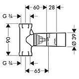 HANSGROHE скрытая часть запорного вентиля шпиндельная, скрытый монтаж, фото 2