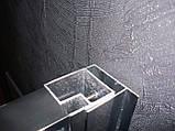 CSARDAS душова кабіна 90*90*200см, однодверна, на середньому піддоні, профіль хром, скло тоноване 6мм, фото 5