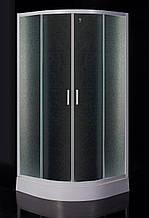 "TISZA душевая кабина 90*90*185 см (стекла+двери), профиль белый, стекло ""Zuzmara"""