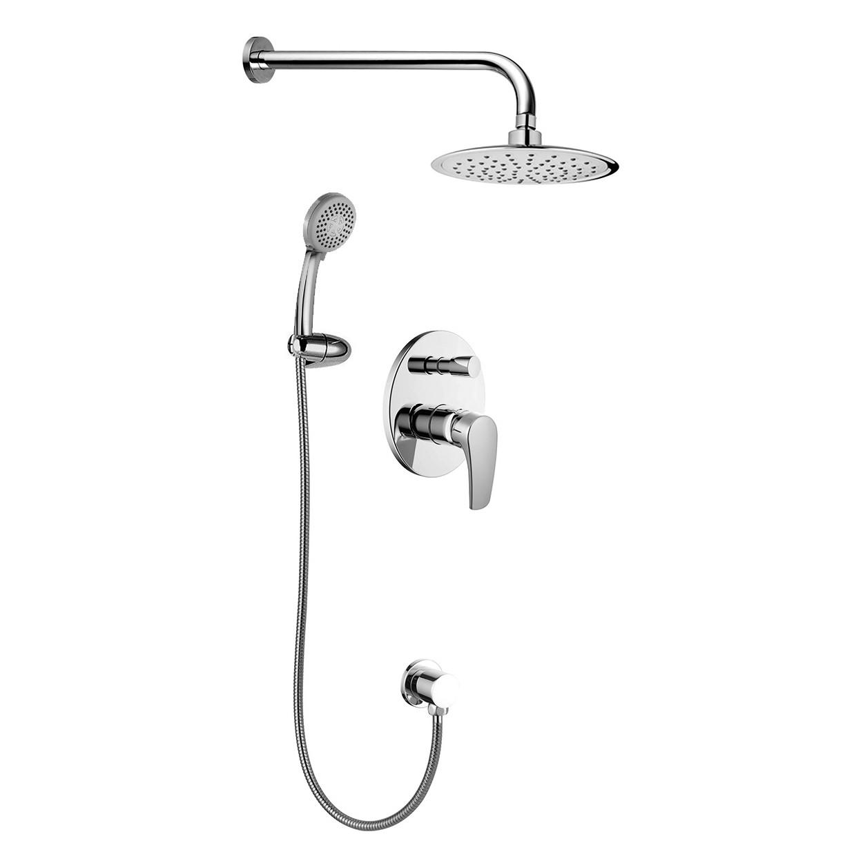 JESENIK смеситель скрытого монтажа для душа (смеситель.с переключ., верхн.душ 200 мм, ручной душ 120 мм 3 режима)