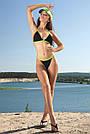 Чёрный раздельный купальник женский на завязках, фото 4