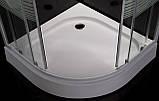 """TISZA (AMUR) душова кабіна 90*90*200см, на дрібному піддоні, профіль білий, скло """"Frizek"""", фото 4"""