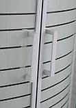 """TISZA (AMUR) душова кабіна 90*90*200см, на дрібному піддоні, профіль білий, скло """"Frizek"""", фото 5"""