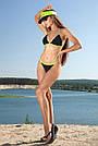Чёрный раздельный купальник женский на завязках, фото 5