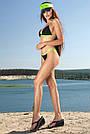 Чёрный раздельный купальник женский на завязках, фото 6