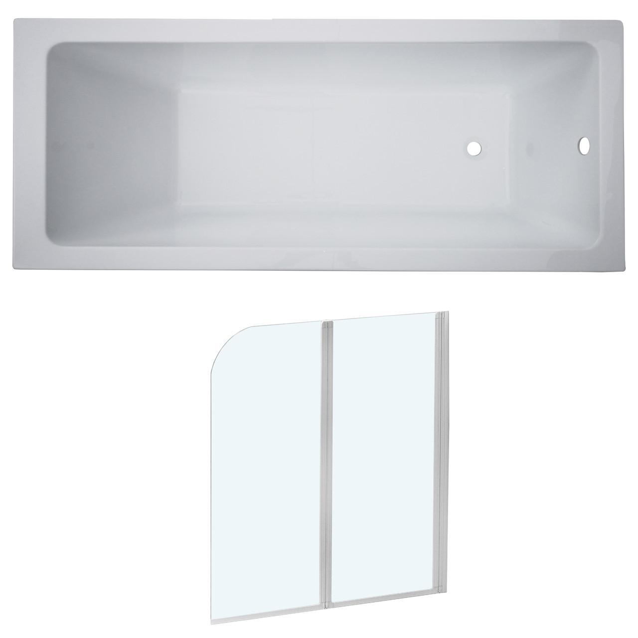 Комплект: LIBRA ванна 170*70*45,8см без ножек + EGER шторка на ванну 120*138см, профиль белый