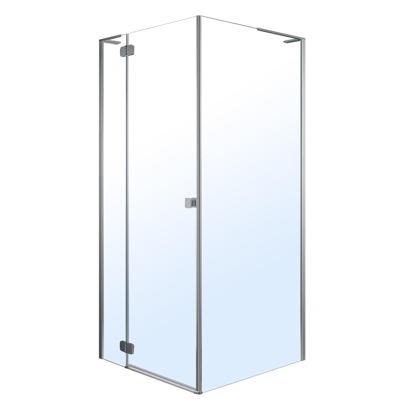 BENITA душевая кабина 90*90*195см, квадратная (стекла + двери), левая, распашная, хром, прозрачное