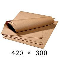 Крафт-папір в аркушах 70 грам - 420 мм × 300 мм / 1000 шт