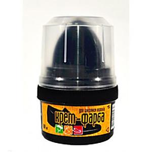 New Крем-краска для обуви черный БЛИСКАВКА 60мл (стаканчик с аппликатором)