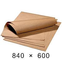 Крафт-папір в аркушах 70 грам - 840 мм × 600 мм / 100 шт