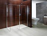Стенка Walk-In 40*190см, каленое прозрачное стекло 8мм, фото 2