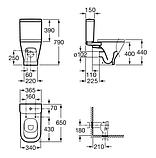 GAP компакт в комплекті: унітаз, бачок 3/4,5, сидіння з системою плавного опускання, фото 2