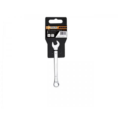 """ТМ""""POLAX"""" Ключ рожково-накидной 6 мм. CrV, Satin finish, DIN 3113, пластиковый холдер (шт.)"""