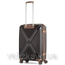 Большой пластиковый чемодан из полипропилена черный Snowball 84803 Франция, фото 2