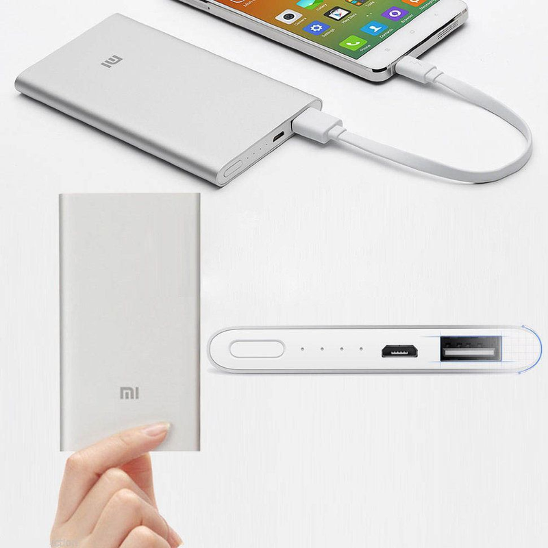 Павербанк Супер тонкий! Power Bank Xiaomi Mi Slim 12000 mAh (Серебристый, черный)