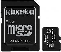 Карта памяти microSDHC 16GB V10 A1 KINGSTON с адаптером Черный, фото 1