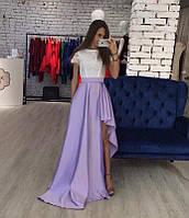 Шикарное платье из шелка и с кружевом