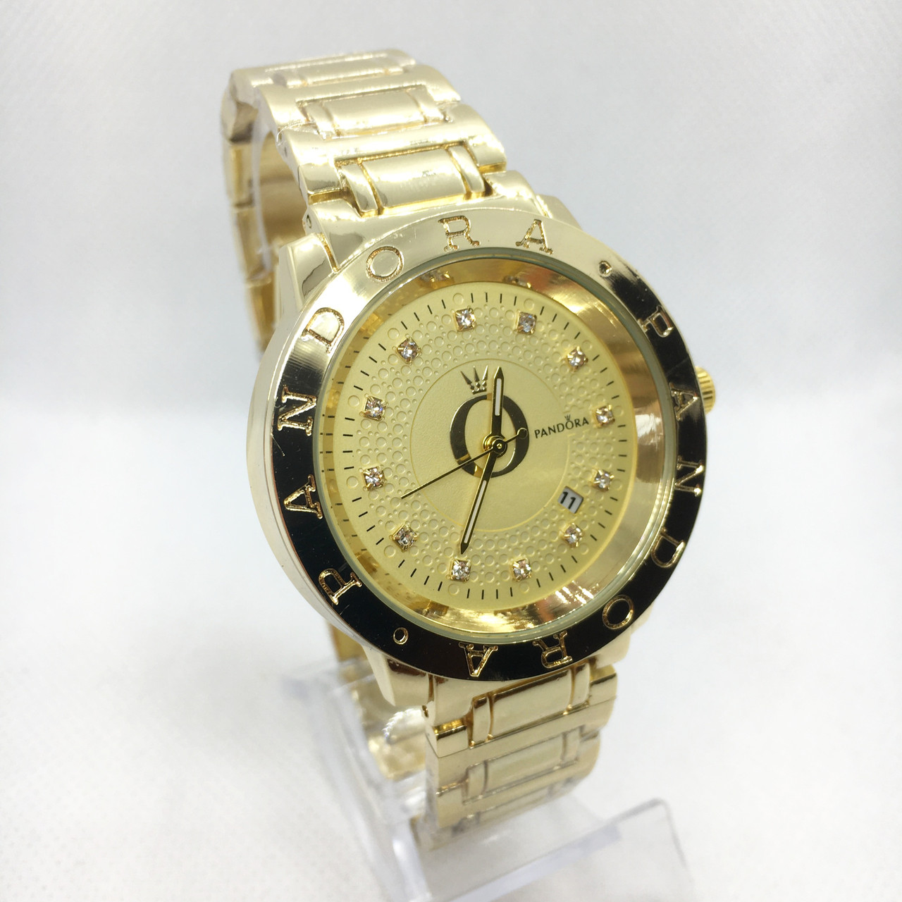 Часы женские наручные Pandora (Пандора), цвет золотистые ( код: IBW388Y )