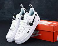 Белые кроссовки Nike Air Force 1 Low TM White (Найк Аир Форс низкие женские и мужские размеры) 36-45 Искусственная кожа, да, 43, Весна/осень