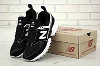 Мужские кроссовки New Balance 574 V2 Sport Black White (Нью Баланс 574 черно-белые)