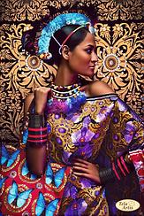 """Схема для вышивки бисером """"Африканка-2"""""""